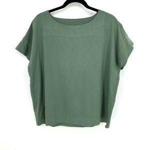 Eileen Fisher Organic Cotton Lagenlook Boxy Top